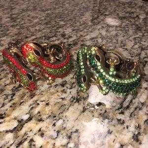 Jeweled Lizard Bangles